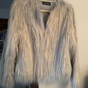 NWT: Faux Fur Jacket
